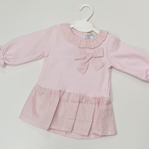 Mintini baby girl velour diamante sparkles sleepsuit babygro Spanish style lace
